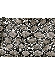 cheap -Women's Buttons PU Clutch Snakeskin Black / Dark Brown / White