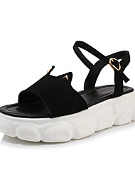 cheap -Women's Sandals Creepers Open Toe Suede Casual / Preppy Spring & Summer Black / Beige / Color Block