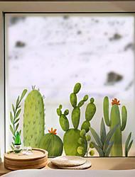 Недорогие -пленка для окон из свежих растений&усилитель; наклейки украшения с рисунком / мультфильм цветок / цветочные / персонаж ПВХ (поливинилхлорид) наклейка окна / матовая / наклейка двери