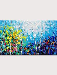 Недорогие -Hang-роспись маслом Ручная роспись - Абстрактные пейзажи Поп-арт Modern Включите внутренний каркас
