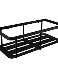 cheap -Rustproof SUS304 Stainless Steel Matte Black Finished Mirror Polished Bathroom Accessories Wall Mounted Rectangle Bathroom Shelf