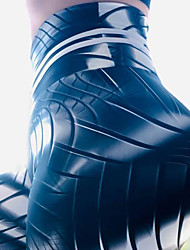 cheap -Women's High Waist Yoga Pants Winter 3D Print Black Elastane Running Fitness Gym Workout Tights Sport Activewear Breathable Moisture Wicking Butt Lift Tummy Control High Elasticity Skinny