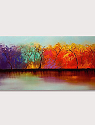 cheap -Oil Painting Hand Painted - Landscape Abstract Landscape Modern Rolled Canvas