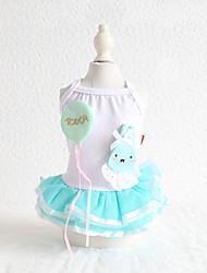 cheap -Dog Costume Dress Dog Clothes Breathable Blue Wedding Costume Beagle Bichon Frise Chihuahua Cotton Cartoon Lace Rabbit / Bunny Casual / Sporty Cute XS S M L XL