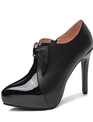 cheap -Women's Heels Stiletto Heel Round Toe Microfiber Classic Spring &  Fall Black / Almond / Wedding / Party & Evening