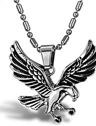 cheap -Men's Pendant Necklace Classic Eagle Punk Titanium Steel Silver 55 cm Necklace Jewelry 1 Piece For Holiday Daily Wear