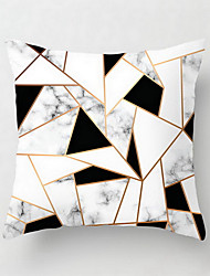 cheap -1 pcs Polyester Pillow Cover Northern Europe hHolds Pillow Cushion for Leaning on Contemporary Contracted Black and White Stripe Geometry Grid Holds Pillowcase Sitting Room Sofa Pillow Covers