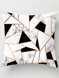 Недорогие -1 шт наволочка из полиэстера северная европа подушка подушки hholds для опоры на современную свернутую черно-белую полоску с геометрической сеткой удерживает наволочку для гостиной диван наволочки