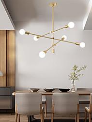 cheap -6-Light 110 cm Pendant Light Pendant Light Metal Glass Electroplated Modern Nordic Style 110-120V 220-240V