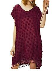 abordables -Femme Blanche Rouge Vert Vêtement couvrant Maillots de Bain - Couleur Pleine Taille unique Blanche