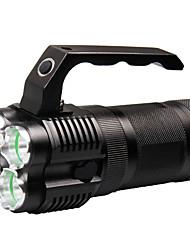 Недорогие -Ручные фонарики 500 lm Светодиодная лампа LED 4 излучатели с зарядным устройством Портативные Походы / туризм / спелеология Повседневное использование Велосипедный спорт Черный