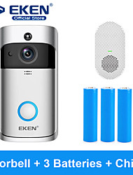 cheap -EKEN V5 Smart WiFi Video Doorbell With 3*18650 Battery and 1*Chime