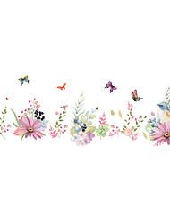 Недорогие -декоративные настенные наклейки романтические цветы - плоские настенные наклейки цветочные / ботанические спальни / кабинет / офис / для интерьера