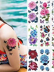 Недорогие -1 pcs Временные татуировки Защита от влаги / Безопасность / Лучшее качество Лицо / Корпус / руки Наклейка для переноса воды Краски для рисунков на теле