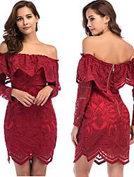 abordables -Diva Rétro Vintage Disco Années 80 Eté Robe Femme Paillettes Costume Rouge Vintage Cosplay Soirée