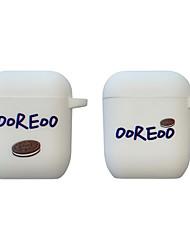 Недорогие -совместимые чехлы для airpods мягкие защитные чехлы для Apple airpods 2&1 зарядка печенья Орео