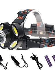 Недорогие -Налобные фонари Водонепроницаемый 3000 lm Светодиодная лампа LED 5 излучатели с зарядным устройством Водонепроницаемый Портативные
