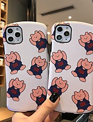 cheap -Case for iPhone X Cute Silk Bear Protective Fashion Cool Cover Skin Teens Boys Girls Cases for iPhone 6 / iPhone 7/ iPhone 11 pro