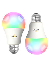 cheap -2pcs 9 W LED Smart Bulbs 900 lm B22 E26 / E27 A60(A19) 31 LED Beads SMD 2835 APP Control Smart Timing RGB&CW 100-240 V