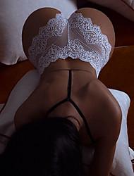 cheap -Women's Basic G-strings & Thongs Panties Mid Waist White Black S M L