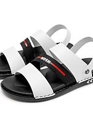 cheap -Men's Novelty Shoes Nylon Spring & Summer Vintage / Casual Sandals Breathable Black / White / Blue