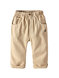 cheap -Kids Toddler Boys' Basic Street chic Solid Colored Pants Khaki