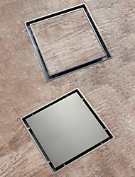 cheap -Chrome / Brushed Brass 15x15cm Bathroom Shower Anti Odor Floor Drain Insert Tile