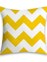 cheap -Set of 1 Polyester Pillow Cover Nordic Ins Living Room Sofa Pillow Cushion Office NAP Headrest Large Backrest Yellow Pillow Cover Without Core