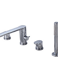 cheap -Bathtub Faucet - Contemporary Chrome Roman Tub Brass Valve Bath Shower Mixer Taps