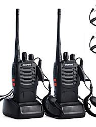 cheap -2PCS Walkie Talkie Baofeng BF-888S 2800mAh 16CH UHF 400-470MHz Baofeng 888S Ham Radio HF Transceiver Amador Portable Intercoms Super Sound Quality