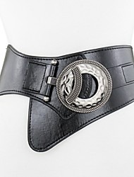 cheap -Leather / Calfskin / Dermis Party / Evening / Professional Sash With Metallic Buckle / Belt / Solid Women's Sashes