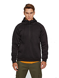 cheap -Men's Half Zip Running Jacket Hoodie Jacket Winter Cowl Neck Running Fitness Jogging Breathable Quick Dry Soft Sportswear Jacket Top Long Sleeve Activewear Stretchy
