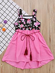 cheap -Kids Girls' Color Block Dress Blushing Pink