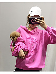 cheap -Dog Cat Hoodie Matching Outfits Quotes & Sayings Simple Style Casual / Sporty Sports Casual / Daily Dog Clothes Warm Black Yellow Fuchsia Costume Cotton Women M S M L XL XXL