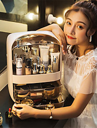 cheap -Transparent cosmetics storage box creative cosmetics storage box portable desk storage box storage drawer waterproof beauty box