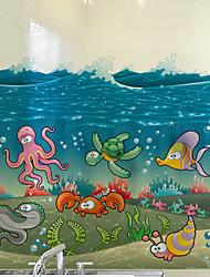 Недорогие -мультфильм рыба окно фильм&усилитель; наклейки украшения матовые / мультфильм животных / персонаж ПВХ (поливинилхлорид) наклейка окна / матовая / мило