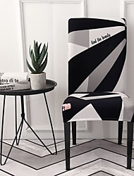 cheap -Chair Cover Geometric Printed Polyester Slipcovers