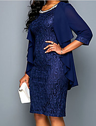 cheap -3/4 Length Sleeve Chiffon Wedding Women's Wrap With Lace / Ruching / Ruffles Coats / Jackets