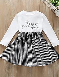 cheap -Kids Girls' Color Block Dress Black