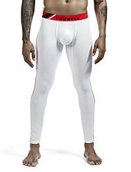 cheap -Men's Side Stripe Stripes High Elasticity Cotton Gray M / Winter / Skinny / Moisture Wicking / Fall / Winter