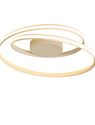 cheap -1-Light 46cm Nordic Style LED Ceiling Light Rotating ring Shape Modern Living Room Dining Room Bedroom Ceiling Lamp