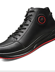 cheap -Men's Comfort Shoes PU Winter Sneakers Running Shoes Black