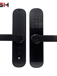 Недорогие -wi-fi сенсорный экран отпечатков пальцев умная дверь без ключа входной замок с визуальным отображением меню идеально подходит для дома, офиса, подвале