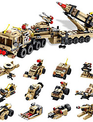 Недорогие -Конструкторы Военные блоки Playsets автомобиля Армия Танк Soldier совместимый Legoing моделирование Военная техника Танк Все Мальчики Девочки Игрушки Подарок / Дети / Детские / Обучающая игрушка