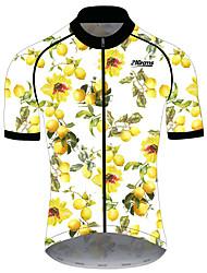 Недорогие -21Grams Жен. С короткими рукавами Велокофты Спандекс Полиэстер Желтый Фрукты Лимонный Велоспорт Джерси Верхняя часть Горные велосипеды Шоссейные велосипеды Устойчивость к УФ Дышащий Быстровысыхающий