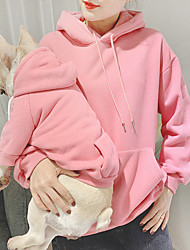 cheap -Dog Cat Costume Hoodie Matching Outfits Dog Clothes Breathable Blue Pink Gray Costume Bichon Frise Schnauzer Poodle Cotton Solid Colored Simple Style Casual / Sporty Women M S M L XL XXL
