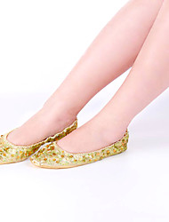 cheap -Women's Dancer Belly Dance Shoes Oriental Cloth Sequin Rubber Golden Light golden Silver Shoes