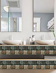Недорогие -Веселая жизнь 10 * 10 см * 18 шт. каменное зерно самоклеющиеся водонепроницаемый diy wall art home кухня спальня ванная комната кухня плитка стикер стикер стены