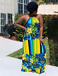 cheap -Women's Elegant Sheath Dress - Geometric Yellow Green S M L XL
