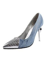 cheap -Women's Heels Stiletto Heel Pointed Toe Rhinestone Denim / PU Spring &  Fall Yellow / Blue / Party & Evening / Color Block